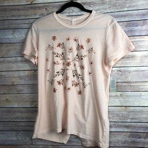 Lucky Brand Stamp Flowers Tee - NEW